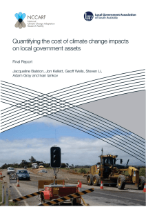 Quantifying the cost of climate change impacts on local