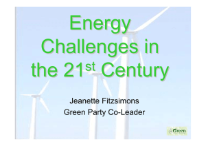 Jeanette Fitzsimons Green Party Co