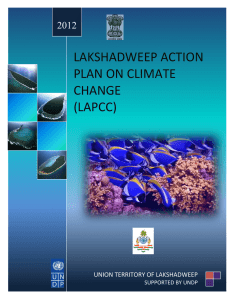lakshadweep action plan on climate change