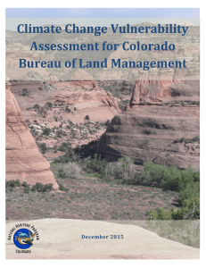 Climate Change Vulnerability Assessment for Colorado Bureau of