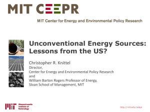 Unconventional Energy Sources: Lessons from the US?