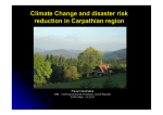 Climate Change and disaster risk reduction in Carpathian region, Mr