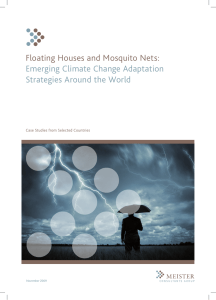 Floating Houses and Mosquito Nets: Emerging Climate