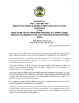 Statement by the Honourable John Briceño