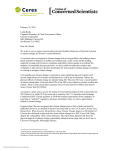 Letter to Chevron - Union of Concerned Scientists