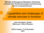 Capabilities and challenges of climate services in Armenia