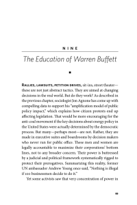 The Education of Warren Buffett