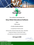 carbon neutral company - Grey Olltwit Educational Software