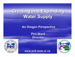 Creating and Expanding Water Supply - PNWS-AWWA