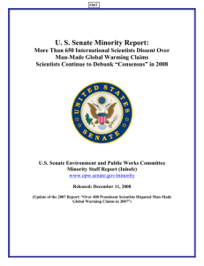U. S. Senate Minority Report: