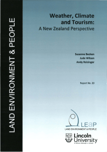 Weather, climate and tourism: a New Zealand perspective