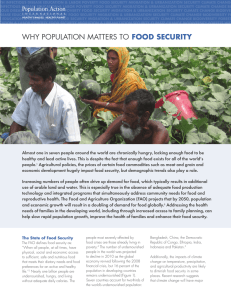 why population matters to food security