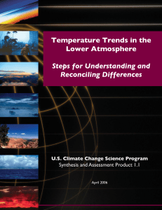Temperature Trends in the Lower Atmosphere: Steps for