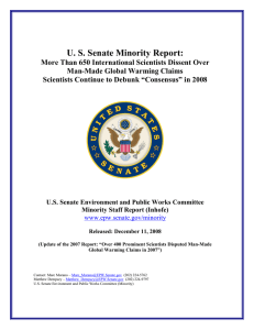US Senate Minority Report