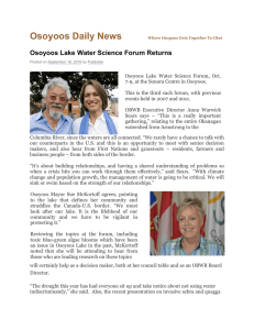 Osoyoos Daily News - Okanagan Basin Water Board