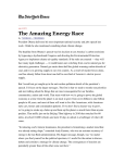 The Amazing Energy Race - Biomass Power Association