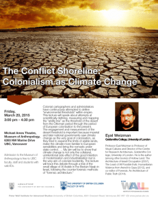 The Conflict Shoreline: Colonialism as Climate Change