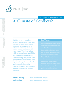 A Climate of Conflicts?