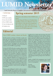 LUMID NEWSLETTER Spring 2015.indd