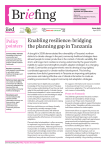 Enabling resilience: bridging the planning gap in Tanzania