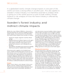 sweden`s forest industry and indirect climate impacts