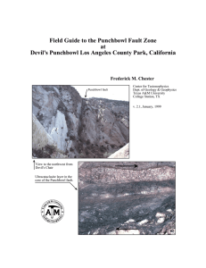 Field Guide to the Punchbowl Fault Zone at Devil`s Punchbowl Los
