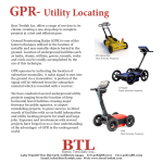 GPR- Utility Locating