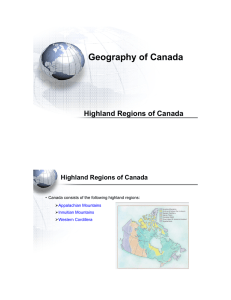 Highland Regions of Canada