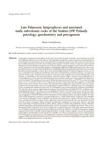 Late Palaeozoic lam pro phyres and as so ci ated mafic subvolcanic