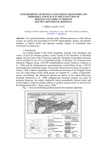geochemistry of retezat and parâng granitoids and their role and