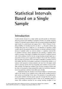 Statistical Intervals Based on a Single Sample Introduction
