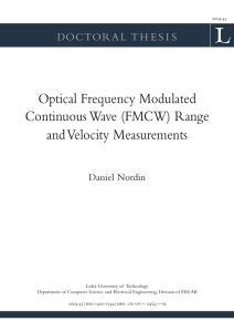 Optical frequency modulated continuous wave (FMCW) range and