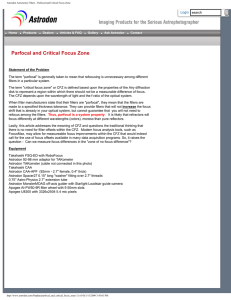 Parfocal and Critical Focus Zone