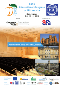 2015 ICU International Congress on Ultrasonics