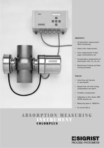 absorption measuring instrument
