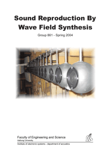 Sound Reproduction By Wave Field Synthesis