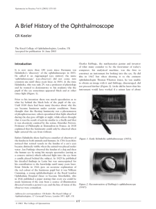 A Brief History of the Ophthalmoscope