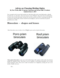 Binoculars - shapes and lenses