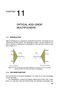 OPTICAL ADD-DROP MULTIPLEXERS