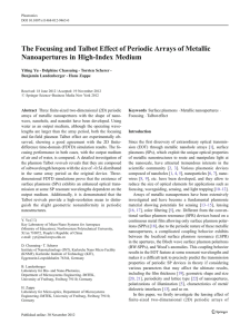 The Focusing and Talbot Effect of Periodic Arrays of Metallic