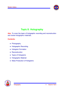 Topic 8: Holography