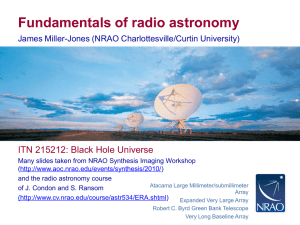 Fundamentals of radio astronomy - Radio Observations of Active