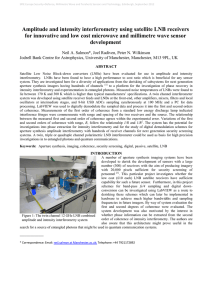 Amplitude and intensity interferometry using satellite LNB receivers