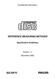 REFERENCE MEASURING METHODS