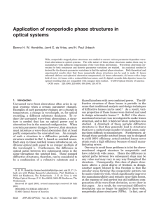 Application of nonperiodic phase structures in