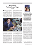 Biomedical Applications of Light
