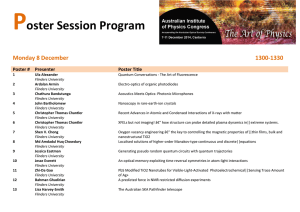 P  oster Session Program Monday 8 December
