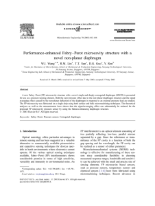 P erformance-enhanced Fabry–Perot microcavity