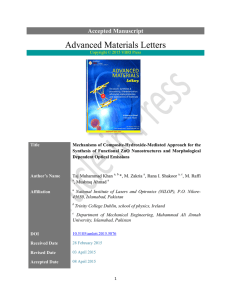 Full Article PDF - Advanced Materials Letters
