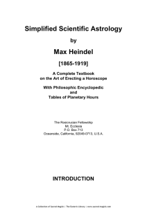 Simplified Scientific Astrology Max Heindel